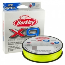 Berkley X9 Braid LowVisual  Fluo Groen
