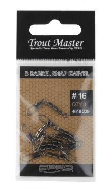 3 barrel snap swivel #16
